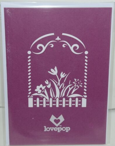 Lovepop LP1038 Flower Garden Pop Up Card with White Envelope Cellophane Wrapped