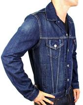 Levi's Men's Classic Cotton Button Up Blue Denim Jeans Jacket 707970013 Size XL image 4