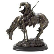 Horse Statue, Stallion Race Horse Sculpture Decor Desk Art - $37.25