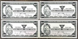 Lot of 4x 1991 Canadian Tire 25 Cents Notes ***Great Condition*** CTC-S13-D - $3.46