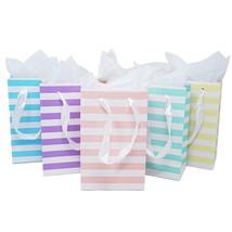 12 Unicorn Rainbow Paper Gift Bags Tissue Paper Satin Ribbon Handles 8.5... - $16.91