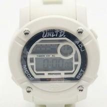 Marc Ecko Unltd White & Black Silicone Parlay Large Face Digital Watch - $81.87