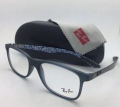 New RAY-BAN Eyeglasses TECH SERIES RB 8903 5262 55-17 Blue-Grey w/ Carbon Fiber