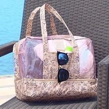 Dry Wet Depart Bag Waterproof Beach Swim Mesh Tote Hand Duffle Bag Wash ... - $42.94