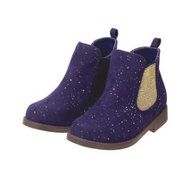 Gymboree Dark Purple Sparkle Boots Booties Ready Jet Toddler Baby Shoes ... - £8.43 GBP