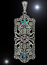 HAUNTED NECKLACE WITCHES BROOM BLESSINGS OFFERS ONLY HIGH MAGICK 925 7 S... - $88,007.77