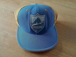 NFL/REEBOK San Diego Chargers BLUE/YELLOW Net CAP-7 3/8-100% WOOL-WORN 1-CLEAN - $6.99