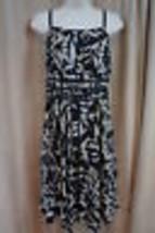 Cynthia Steffe Dress Sz 10 Black Pleated Silk Chiffon Evening Cocktail T... - $180.46