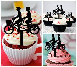 Gay,Wedding,Birthday,Cupcake topper,Romantic Bicycle Same Sex Gay : 10 pcs - $10.00