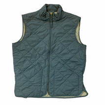 J.Crew WoMens Sussex Quilted Vest - Forest Green Medium - $24.39
