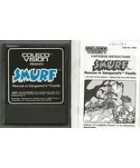 ORIGINAL Vintage 1982 ColecoVision Smurfs Rescue Gargamel Castle Game + ... - $23.22