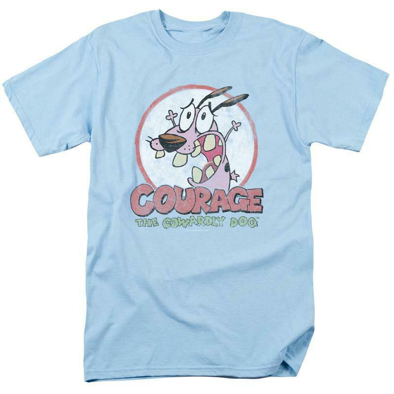Courage the Cowardly Dog T-shirt 90's cartoon graphic 100% cotton tee CN273