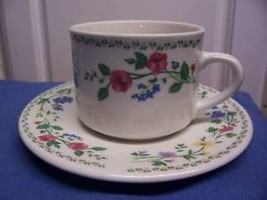 Farberware English Garden Cup & Saucer Set Lovely Lot of 4 Lovely - $14.36