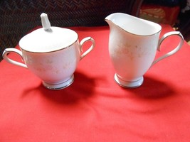 "RARE Beautiful NORITAKE Dinnerware ""Templeton""  ...SUGAR & CREAMER - $12.35"
