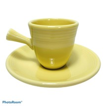 Fiesta Demitasse Cup and Saucer Yellow Stick Handle Contemporary Homer Laughlin - $29.99