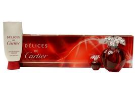 Cartier Delices De Cartier 3PC Gift Set Eau De Toilette Spray 100ML NIB-FD419519 - $148.01