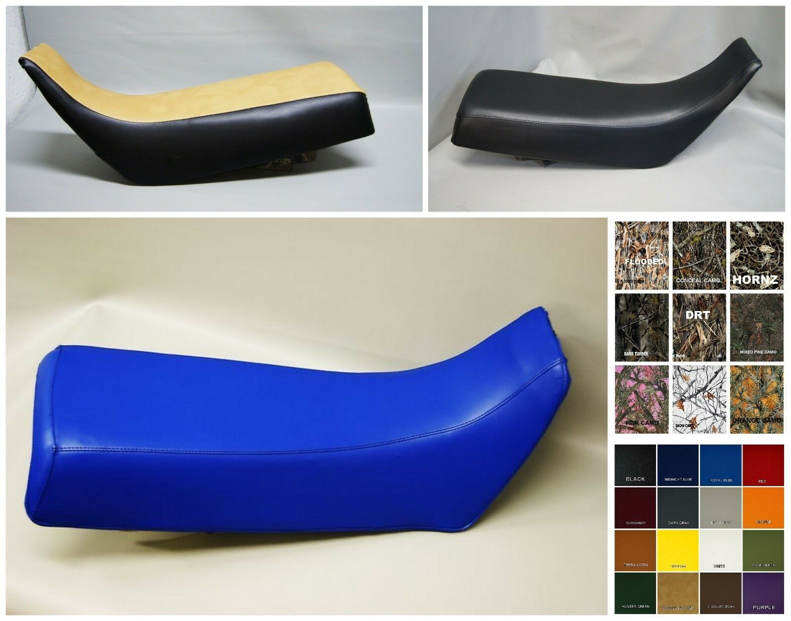 Primary image for HONDA XR600R Seat Cover XR 600 XR 600R 1985 1986 1987 IN BLACK or 25 COLORS