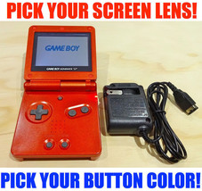 Nintendo Game Boy Advance GBA SP Flame Red System AGS 001 Pick Your Butt... - $74.20+