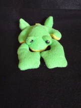 "Baby Gund PLUSH GREEN & YELLOW FROG RATTLE 6"" Long ~ NWOT - $9.40"