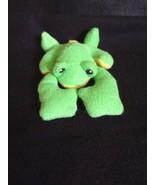 """Baby Gund PLUSH GREEN & YELLOW FROG RATTLE 6"""" Long ~ NWOT - $9.40"""