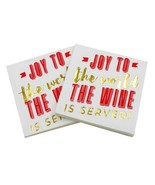 New Year's ✩JOY✩ Cocktail Foil Napkins, XMAS Party Holiday Table Décor [... - $8.82