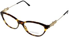 Versace Eyeglasses Frame Women Brown Tortoise Fashion Oval VE3215 5148  - $147.51