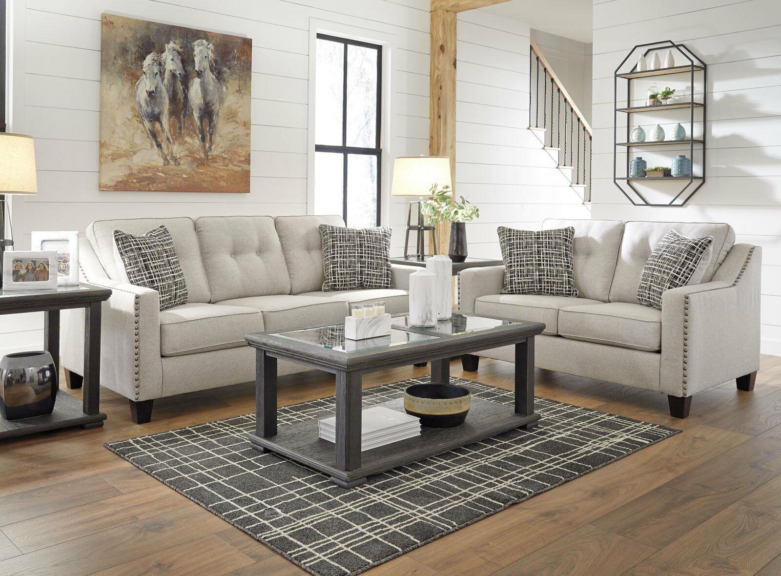 Dawson Modern Living Room Furniture New Gray Microfiber