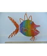 Beadworx Large Hanging Rainbow Fish Glass Beads on Galvanized Wire - $39.59