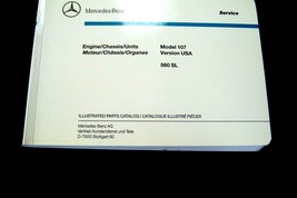 mercedes 560sl 560 sl owners illustrated Parts Catalog Manual Book w107 new - $98.99