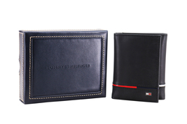 Tommy Hilfiger Men's Leather RFID Extra Capacity Trifold Wallet 31TL110044 image 3