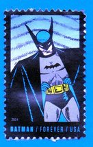 Scott #4935 Used US Postage Forever Stamp - 2014 Batman - $1.99