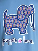 Puppie Love Rescue Dog Adult Unisex Short Sleeve Graphic T-Shirt, Ikat Pup image 2