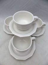 Pfaltzgraff Heritage White - set/lot of 4 Coffee Cups & Saucer - USA - EUC - $22.28