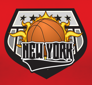 New York Basketball Sports Style Graphic T Shirt Black Red White L XL 2XL