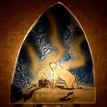 Fused Art Glass Northern Lights Polar Bear Design Nightlight Handmade Ecuador image 7