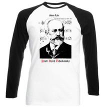 Pyotr Ilyich Tchaikovsky - Music - New Black Sleeved Baseball Tshirt - $26.97