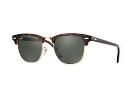 Nuevo Ray-Ban Clubmaster Rb3016 W0366 Imitación Carey/ Dorado con / Verde - $161.33