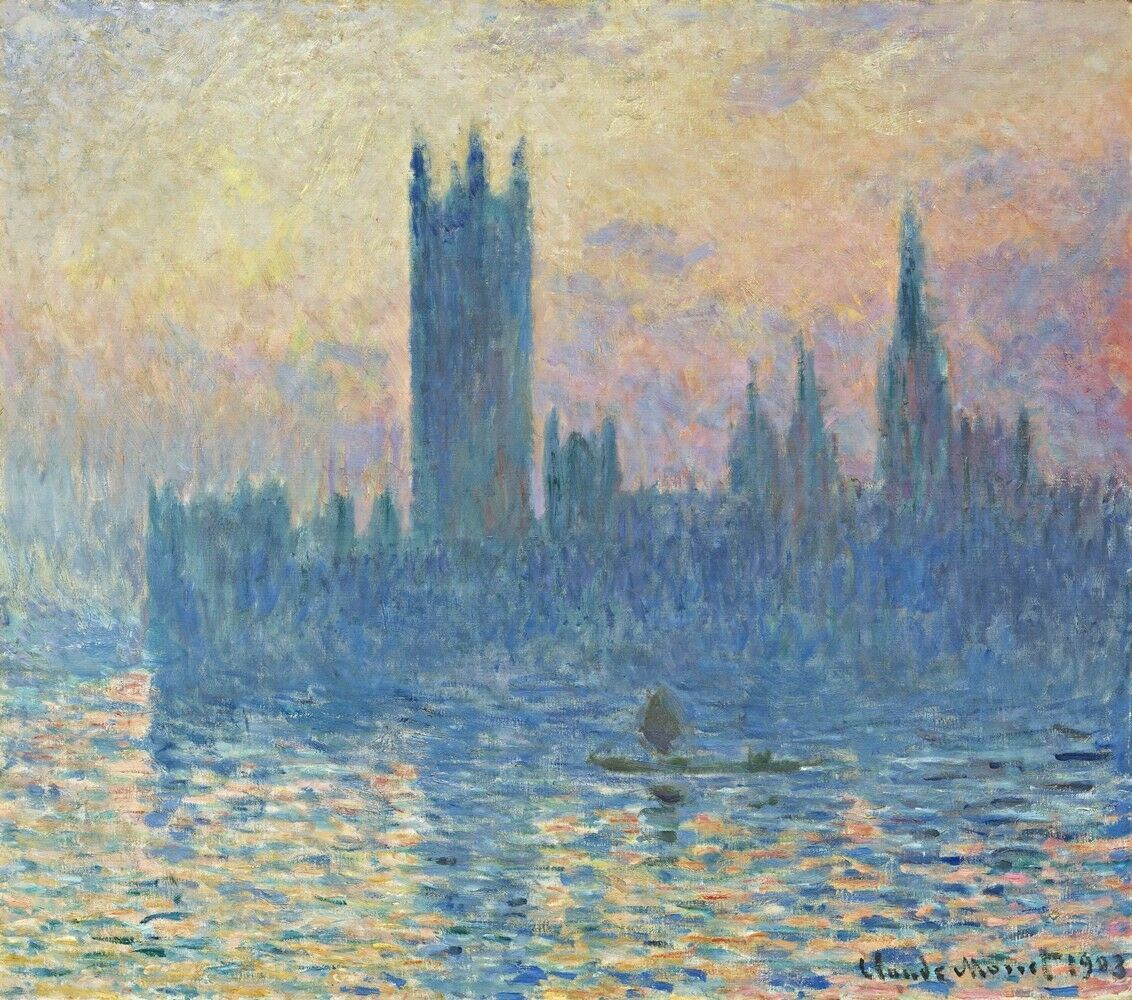 Primary image for The Houses of Parliament, Sunset Painting by Claude Monet Art Reproduction