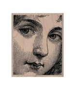 NEW Girls Face by Cat Kerr Rubber Stamp, Girl Stamp, Child Stamp, Angel Stamp - $10.40