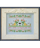 Spring In Your Step easter spring cross stitch ... - $7.20