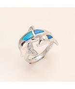 Australian Blue Fire Opal Dolphin 925 Sterling Silver Women Wedding Fine... - $30.66