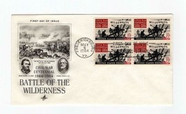 FDC ENVELOPE-BATTLE OF THE WILDERNESS- 4BL 1964  ARTCRAFT  CACHET BK13 - $1.47