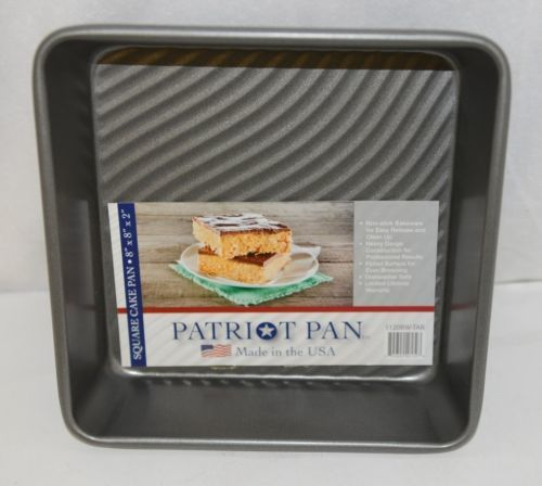 Patriot Pan 1120BWTAR Square Non Stick Bakeware 8 By Eight Inch