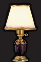 "Dollhouse Miniature Lamp Dark Blue w/Clay Color Floral Base 12v-2¾""T 1:1... - $19.97"