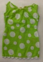 Vintage Barbie Glamour Group #1510 Green Polka Dot Dress & T-straps  290-26 - $28.00