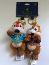 Disney Parks Shanghai Grand Opening Chip 'n Dale Plush Keychain New with... - $13.16