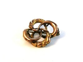 Victorian Gold Tone Intertwirled Brooch - $24.74