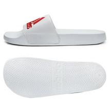 Adidas Adilette Shower Slides Sandals Slipper White/Red F34767 - $32.99