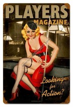 Players Magazine Pinup Vintage Metal Sign - $29.95