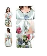Women Sexy Lingerie Short Robe/Belt Kimono Floral Short Sleeve Dress M 6... - $8.60